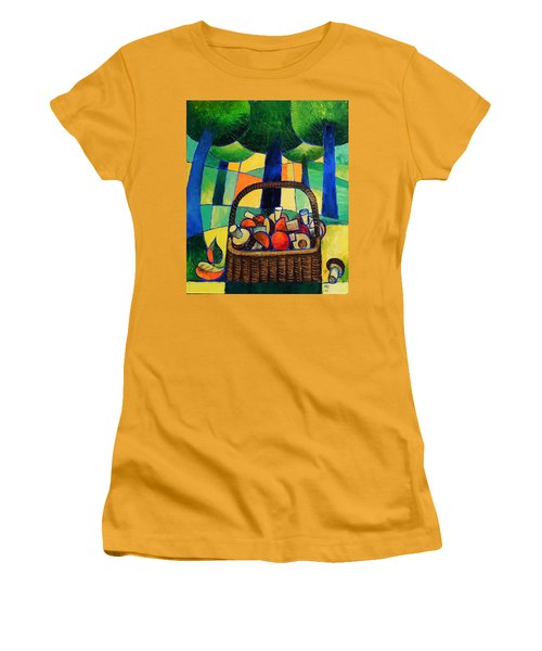 Porcini Women's T-Shirt (Junior Cut) by Mikhail Zarovny