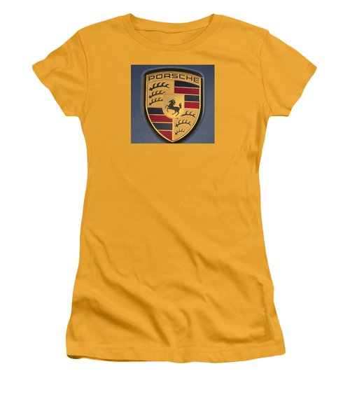 Porsche Emblem Women's T-Shirt (Junior Cut) by Lingfai Leung
