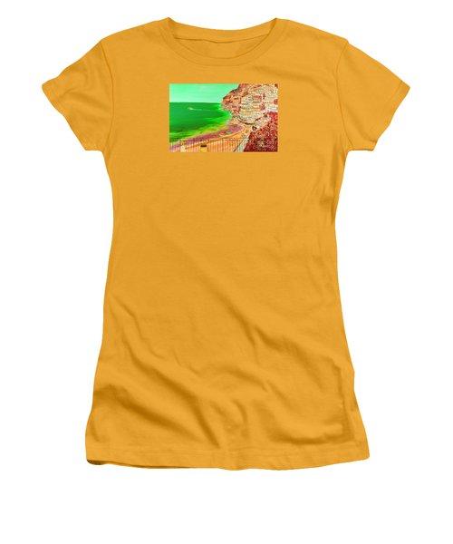 Women's T-Shirt (Junior Cut) featuring the painting Positano Bay by Loredana Messina