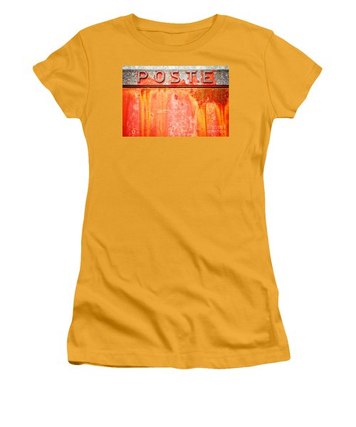 Poste Italian Weathered Mailbox Women's T-Shirt (Junior Cut)