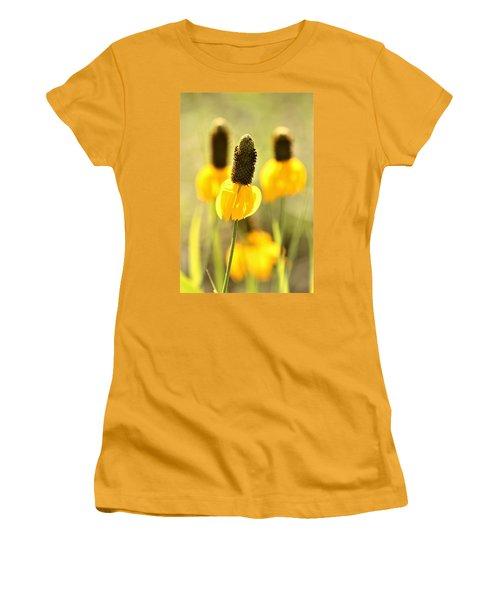 Prairie Coneflower In Morning Light Women's T-Shirt (Athletic Fit)