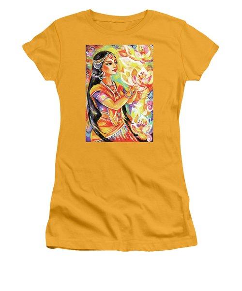 Pray Of The Lotus River Women's T-Shirt (Junior Cut) by Eva Campbell