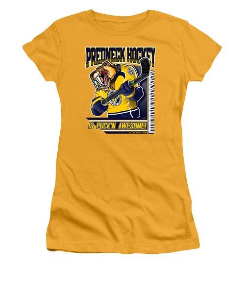 Predneck Hockey Women's T-Shirt (Athletic Fit)