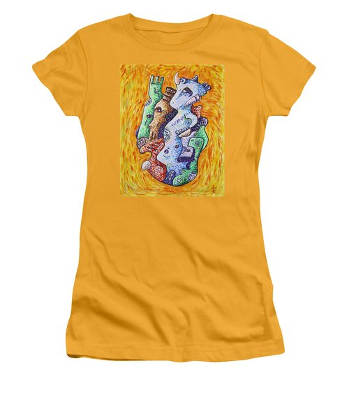 Psychedelic Animals Women's T-Shirt (Athletic Fit)