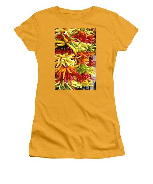 Public Market Peppers Women's T-Shirt (Junior Cut) by Henri Irizarri