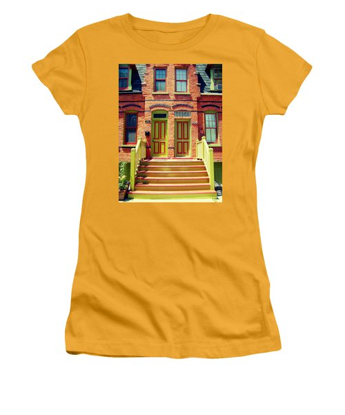 Pullman National Monument Row House Women's T-Shirt (Athletic Fit)