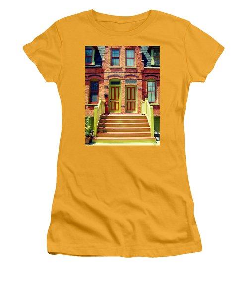 Pullman National Monument Row House Women's T-Shirt (Junior Cut) by Kyle Hanson