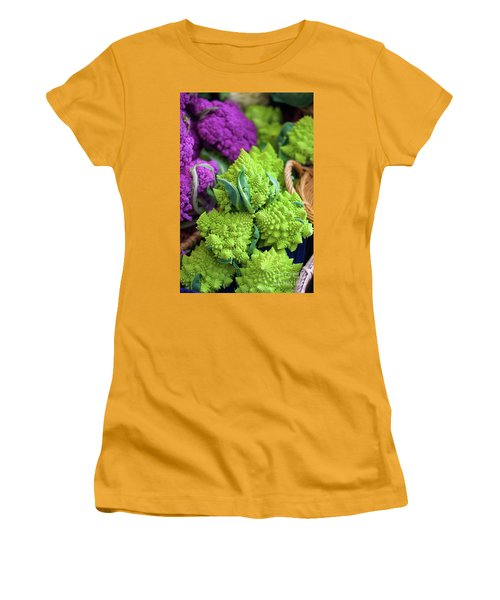 Purple And Romanesco Cauliflower Women's T-Shirt (Athletic Fit)