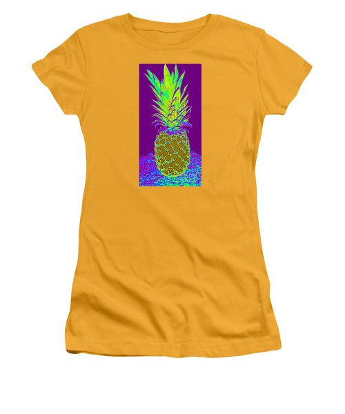 Purple Pineapple Women's T-Shirt (Athletic Fit)