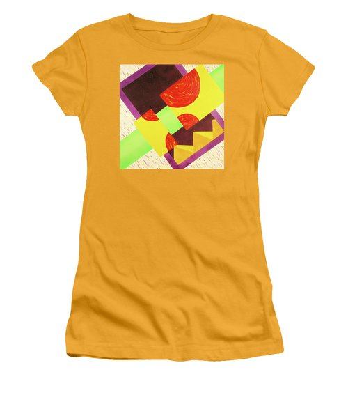 Women's T-Shirt (Junior Cut) featuring the painting Pyramids And Pepperoni by Thomas Blood