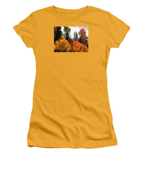 Radiant Autumnal Forest Women's T-Shirt (Athletic Fit)