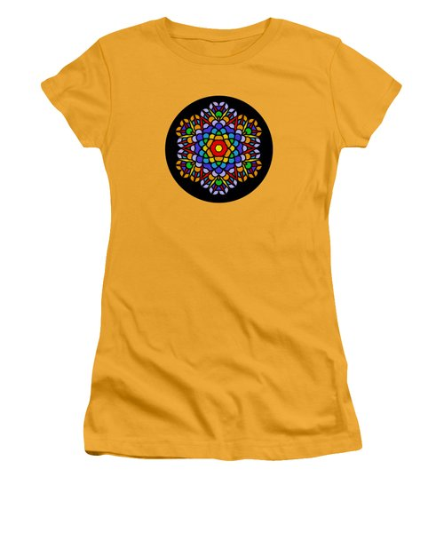 Rainbow Mandala By Kaye Menner Women's T-Shirt (Athletic Fit)