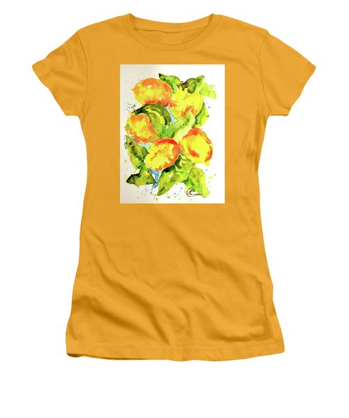 Rainwashed Lemons Women's T-Shirt (Athletic Fit)