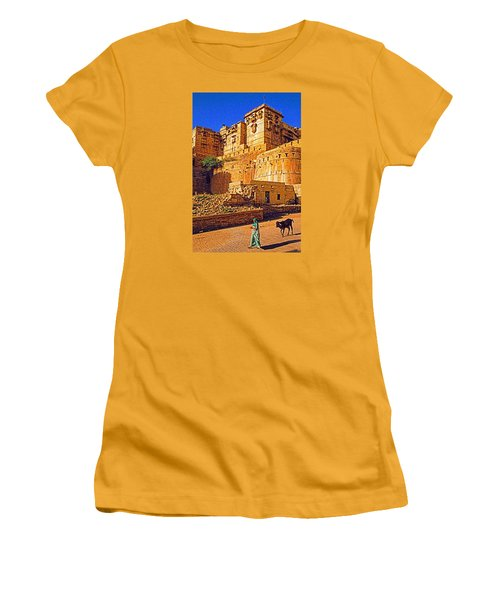 Women's T-Shirt (Junior Cut) featuring the photograph Rajasthan Fort by Dennis Cox WorldViews