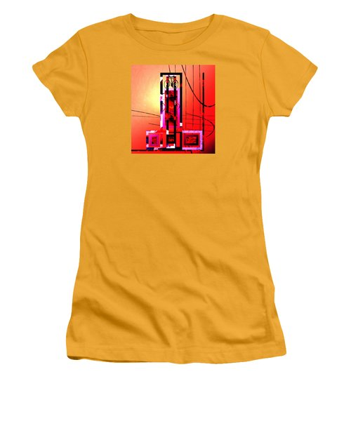 Women's T-Shirt (Junior Cut) featuring the painting Re-cycled Art by Andrew Penman