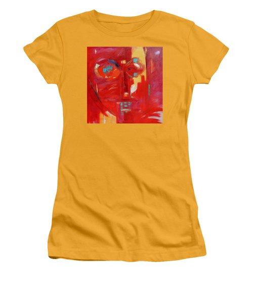 Women's T-Shirt (Junior Cut) featuring the painting Red Face by Gary Coleman