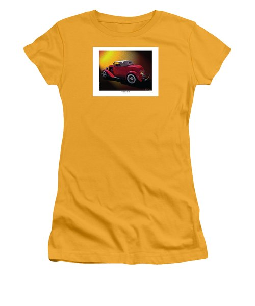 Red Hot Rod Women's T-Shirt (Junior Cut) by Kenneth De Tore