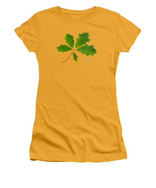 Women's T-Shirt (Junior Cut) featuring the photograph Red Oak by Christina Rollo