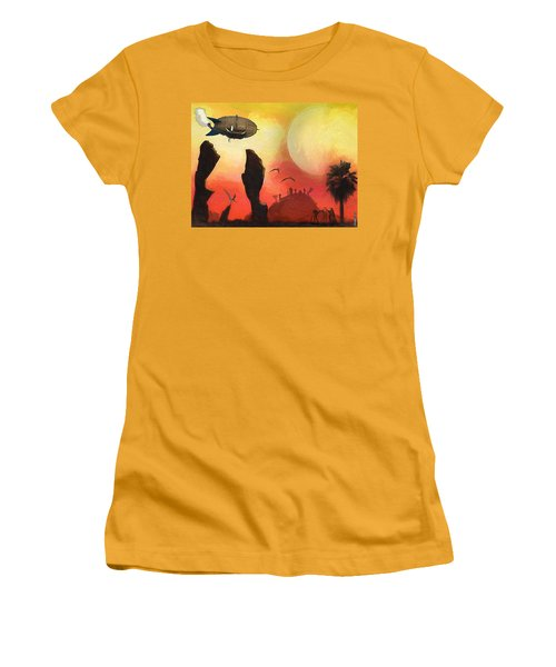 Red Planet Women's T-Shirt (Athletic Fit)