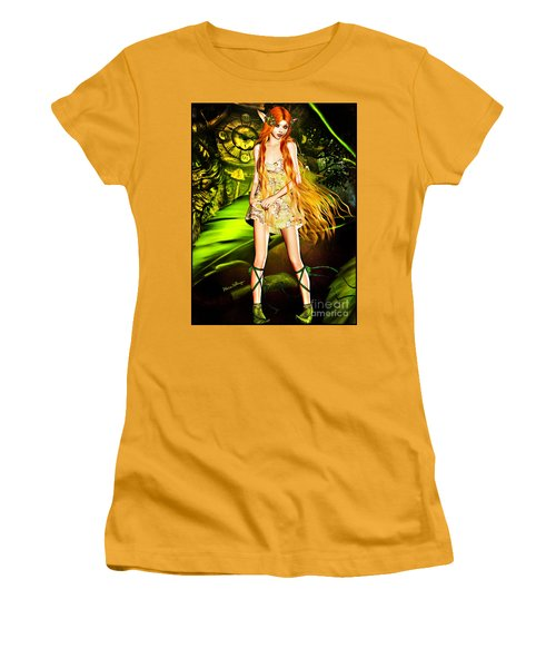 Redhead Forest Pixie Women's T-Shirt (Athletic Fit)