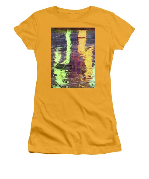 Reflecting Abstract Women's T-Shirt (Athletic Fit)