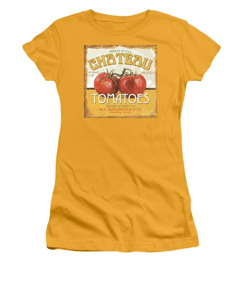 Retro Veggie Labels 4 Women's T-Shirt (Athletic Fit)