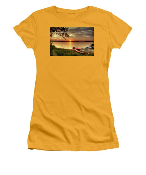 Women's T-Shirt (Junior Cut) featuring the photograph River Road Park Never Disappoints by Phil Mancuso