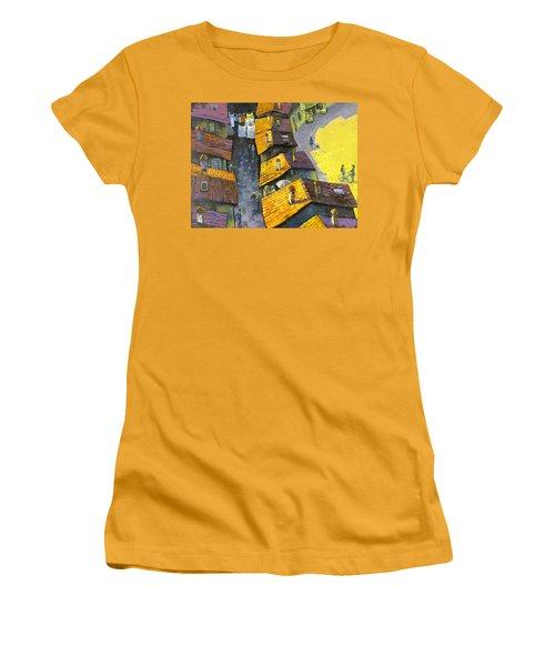 Rooftops Women's T-Shirt (Junior Cut) by Mikhail Zarovny