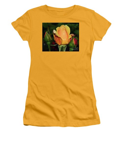Rose Bud Women's T-Shirt (Athletic Fit)