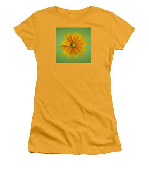 Women's T-Shirt (Junior Cut) featuring the photograph Rudbeckia Blossom Irish Eyes - Square by Patti Deters