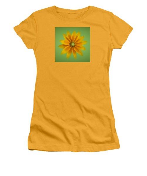 Rudbeckia Blossom Irish Eyes - Square Women's T-Shirt (Junior Cut) by Patti Deters