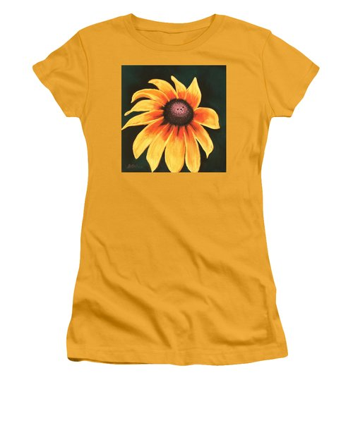 Women's T-Shirt (Athletic Fit) featuring the painting Rudbeckia Hirta by Anastasiya Malakhova