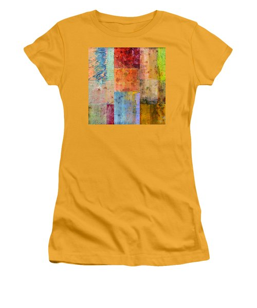 Women's T-Shirt (Athletic Fit) featuring the painting Rust Study 2.0 by Michelle Calkins