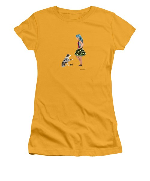Women's T-Shirt (Athletic Fit) featuring the digital art Samantha by Nancy Levan