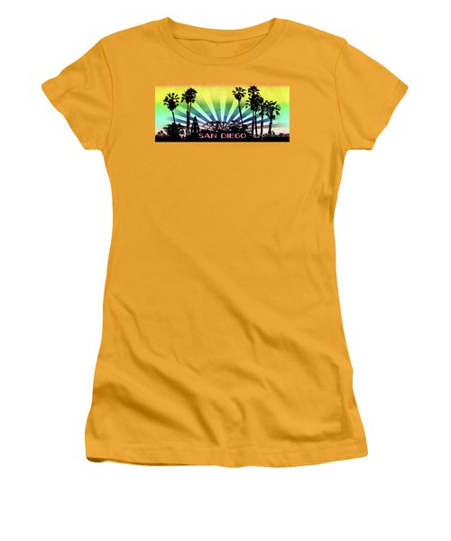 San Diego - Balboa Park Silhouette Women's T-Shirt (Athletic Fit)