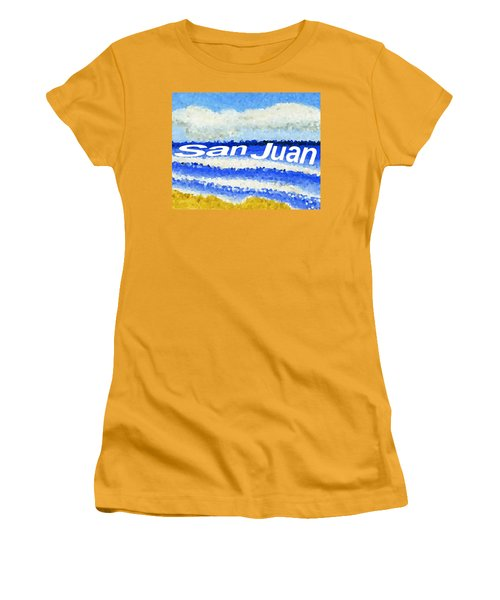 San Juan  Women's T-Shirt (Junior Cut) by Dick Sauer