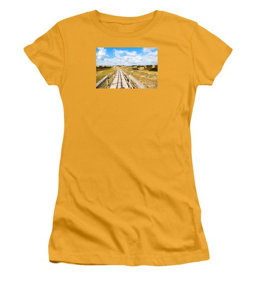 Seabound Boardwalk Women's T-Shirt (Athletic Fit)