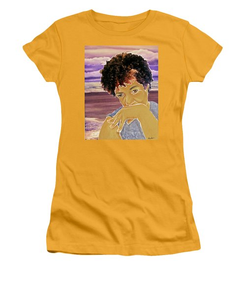 Seaside Pondering Women's T-Shirt (Athletic Fit)