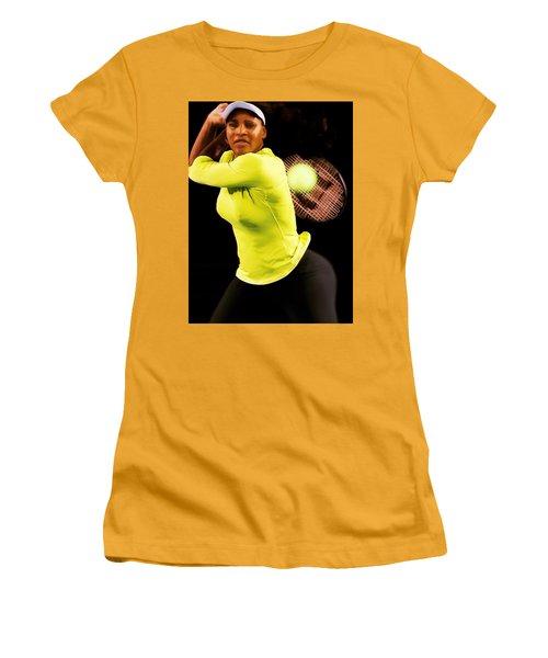 Serena Williams Bamm Women's T-Shirt (Junior Cut) by Brian Reaves