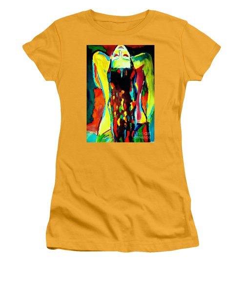 Women's T-Shirt (Junior Cut) featuring the painting Serenity by Helena Wierzbicki