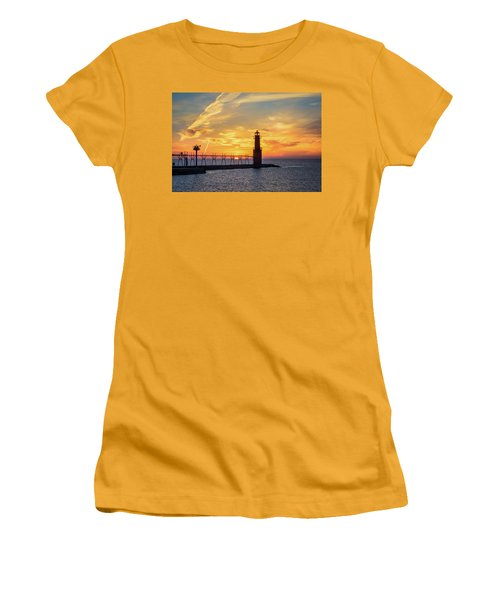 Women's T-Shirt (Athletic Fit) featuring the photograph Serious Sunrise by Bill Pevlor