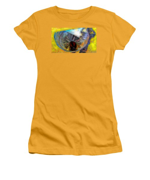 Women's T-Shirt (Junior Cut) featuring the digital art Shallow Well by Ron Bissett