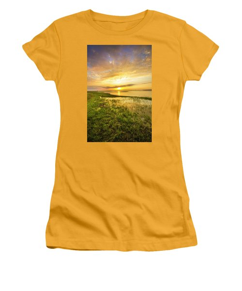 Shinnecock Bay Wetland Sunset Women's T-Shirt (Athletic Fit)