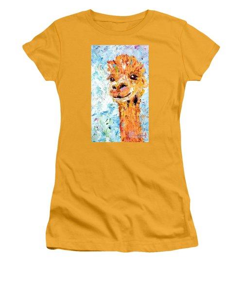 Shorn Alpaca. Where's My Fleece? Women's T-Shirt (Athletic Fit)