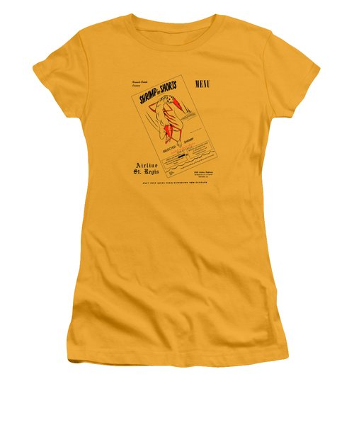 Shrimp In Shorts 1950s Women's T-Shirt (Athletic Fit)