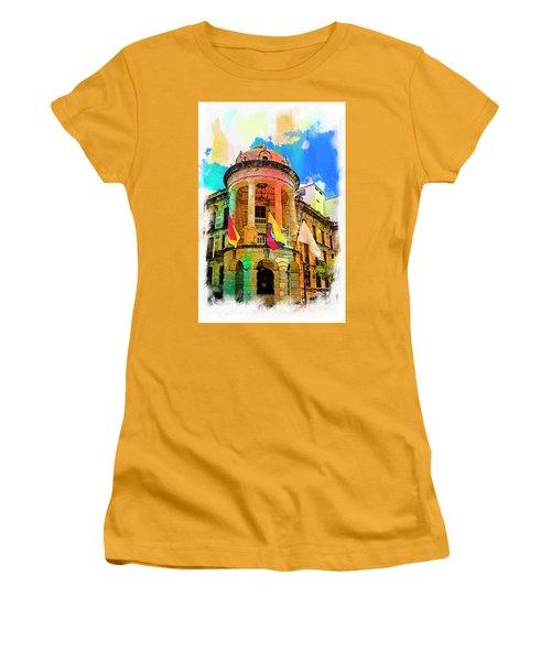 Silly Hall, Cuenca, Ecuador Women's T-Shirt (Junior Cut) by Al Bourassa