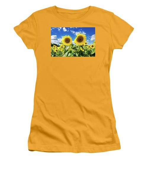 Women's T-Shirt (Junior Cut) featuring the photograph Sisters by Greg Fortier