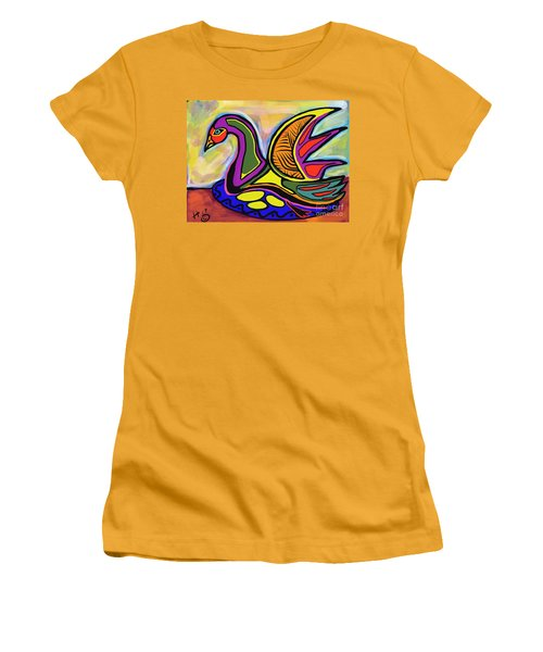 Sitting Women's T-Shirt (Athletic Fit)