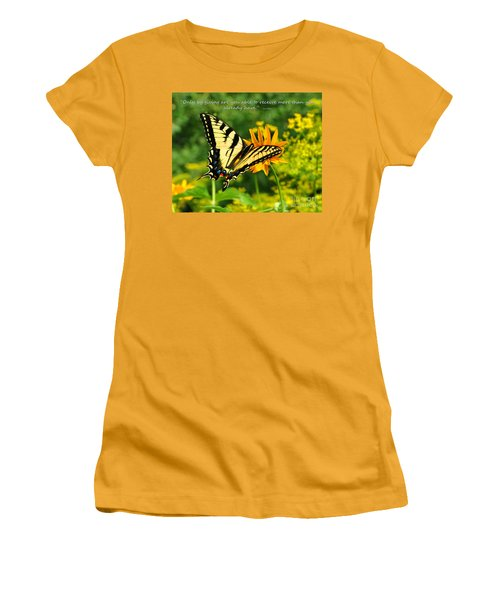 Sitting Pretty Giving Women's T-Shirt (Junior Cut) by Diane E Berry