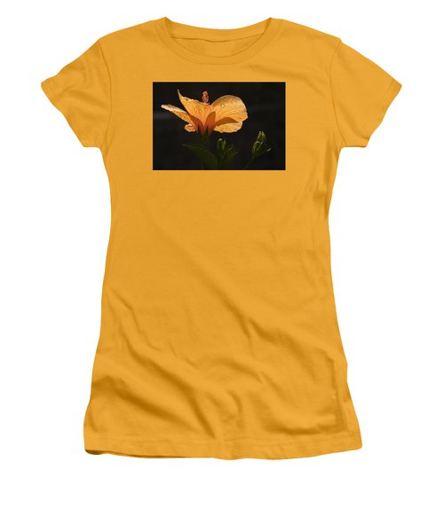 Skc 9937 The Grace Of Hibiscus Women's T-Shirt (Junior Cut) by Sunil Kapadia